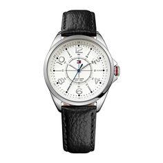 1ebc72e12c7 Relógio Feminino Tommy Hilfiger com pulseira de couro preto. 1781263