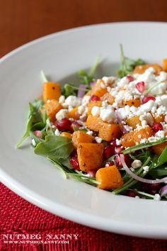 Butternut Squash Salad by Nutmeg Nanny #salad