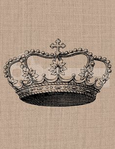 Instant Download Crown Digital Graphic No369 by TanglesGraphics, $1.00