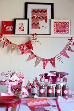 Hello Kitty Party Printables, change out regular pics for printables.