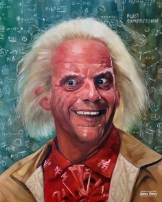 """Great Scott!"" (Back To The Future - Oil on canvas)"