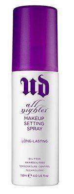 Urban Decay Cosmetics, All Nighter Setting Spray| Necesitas que tu maquillaje dure todo el día? Esta es la solución! Solo rocía después del maquillaje y listo!