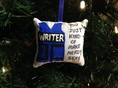 """Richard Castle Writer Bulletproof Kevlar Vest """"You Just Kind of Make Nerdy Sexy"""" Hand Painted Christmas Ornament Kate Beckett FREE SHIPPING! by HollyAndHerHobbies on Etsy"""