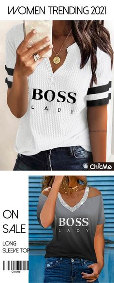 1000+Trendy Styles For You. Free shipping order over 57 €. Easy Returns. Buy More, Save More. Discover your own style! Cool Outfits, Summer Outfits, Casual Outfits, Look Fashion, Trendy Fashion, Work Attire, Cute Tops, Casual Looks, Long Sleeve Tops