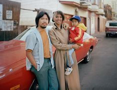 Langton Street residents Lalett and Vanessa Fernandez with their son, 1980 // by Janet Delaney