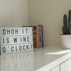 Kitchen quote light box wine drinks