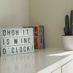 Kitchen quote light box wine drinks