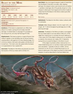 "#DungeonsandDragons Inspired by the ""Weapon on the Wall"" adventure uploaded to #DMsGuild by Kelnas.  As it's a setting neutral adventure, there's a very good chance the ""Compass Roses"" adventuring band will soon be encountering this ""Displacer Beast meets Rust Monster"" monstrosity…"