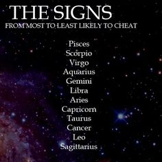 what zodiac sign is most likely to cheat