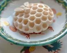 Mini Honey Bee Soap Sitting on a Honeycomb made by SkyRainSoap Orange Blossom Honey, Be Light, Lavender Honey, Little Presents, Honey Soap, Hand Molding, Save The Bees, Bee Happy, Bees Knees