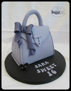 Skerries / Na Sceirí Handbag Cakes, Purse Cakes, Fondant Cakes, Cupcake Cakes, Bolo Cake, Cake Shapes, Adult Birthday Cakes, Shoe Cakes, Cake Makers
