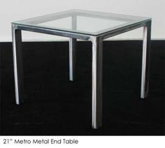 Metro Metal End Table | Town & Country Event Rentals