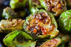 Roasted Brussels Sprouts with Sweet Chili Sauce Recipe / steamykitchen.com