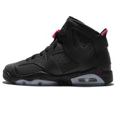 reputable site 4bf08 4b009 Jordan Kid s Air 6 Retro GG, ANTHRACITE BLACK-BLACK-HYPER PINK,