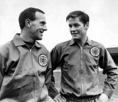 Goalkeeper Ronnie Simpson and winger Jim McCalliog of the Scotland squad, 1967
