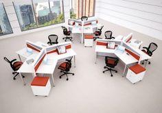 Home Office Furniture Can Make You Work Corporate Office Design, Office Design Concepts, Open Office Design, Office Designs, Open Space Office, Office Space Planning, Open Concept Office, Modern Office Desk, Modular Office