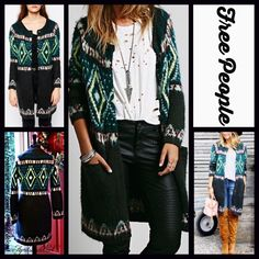 """❗️1-HOUR SALE❗️FREE PEOPLE Cardigan Fair Isle RETAIL PRICE: $198         NEW WITH TAGS   ***Model photos retrieved from WWW.Lyst,com & WWW.Nordstrom.com  FREE PEOPLE Cardigan Fair Isle   * Patterned knit construction, long Sleeves & front buttons closure   * Incredibly soft & cozy.  * Round neck front & 2 front slip pockets  * About 35.5"""" long  Fabric: Acrylic, 16% Mohair, & 13% Wool (Super soft) Color: Charcoal 1212900  No Trades ✅Offers Considered*/Bundle Discounts✅  *Please use the…"""