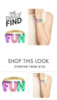 """""""The Daily Find: Kate Spade Bangle"""" by polyvore-editorial ❤ liked on Polyvore featuring Kate Spade and DailyFind"""