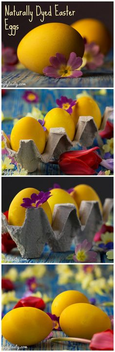 If you don't want to use artificial food dyes for coloring your Easter eggs you can do it naturally.