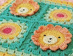 Little Lion granny square - paid pattern