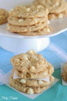 White Chocolate Lemon Pudding Cookies - Picky Palate