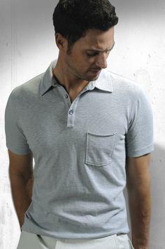 Miami Slub Knit Polo - Storm  Kenneth Pants - Stone