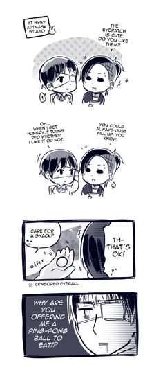 Tokyo Ghoul ~~ Adorable comic that explains an otherwise perplexing moment. :: Ken and Uta