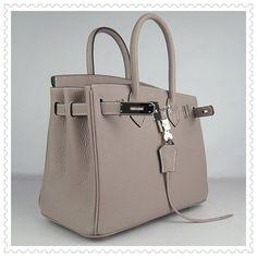 Hermes Birkin Bag 30CM Light Gray Silver