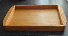Wood Serving Tray with Carrying Handles