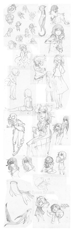 Sketchdump 08.28.11 by ~IniquitousFish