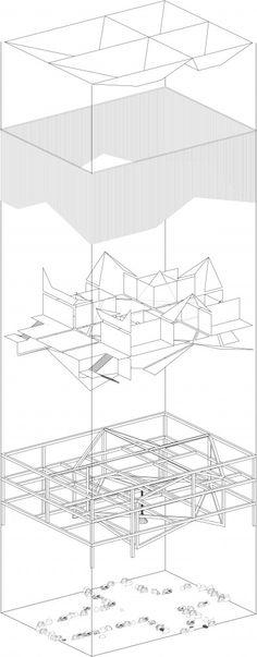 architecture diagram _ New Våler Church Proposal / Martina Engblom