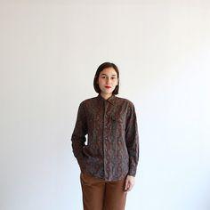 Vintage Ralph Lauren paisley blouse.