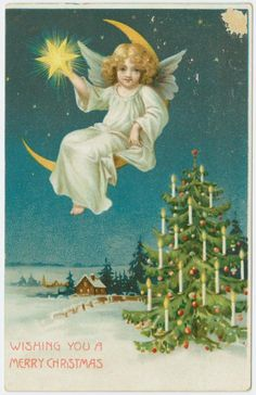 Wishing you a Merry Christmas. From New York Public Library Digital Collections.