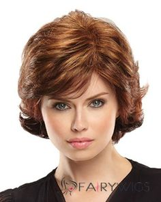 Coco is a new monofilament top wig from Jon Renau. This short length wig is parted on the left and has wavy, curly tips. Bad Hair, Hair Day, Best Human Hair Wigs, Cheap Lace Front Wigs, Monofilament Wigs, Jon Renau, Wigs Online, Short Wavy, Synthetic Wigs