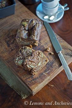 Banana Nutella Bread. I have tried this recipe a couple of times. This bread is moist, has a lovely density and so yummy.