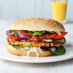 Feta-Hirse-Burger