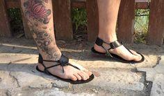 Genuine leather Barefoot Huarache sandals por sandalsastir en Etsy