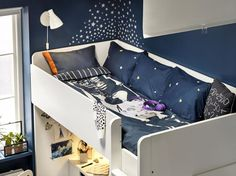 Using altitude to get a peaceful sleep space Furniture, Kids Room, Room, Toddler Bed, Ikea Catalog, Ikea, Space, Home Decor, Bed