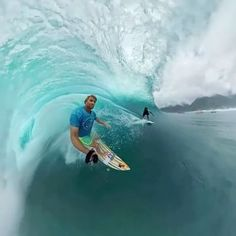 Dream of getting barreled like @anthony_walsh_ ? Tag your #surf partner for a chance to win a #HERO4Session and a Floaty. In the meantime, check out our Facebook page for a 360 edit from inside the wave! #GoPro #Spherical