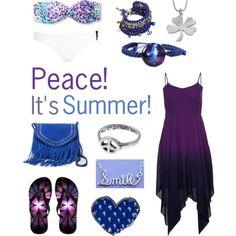 """Purple Summer"" by jazzyishaircrazy on Polyvore #purple #blue #summer"