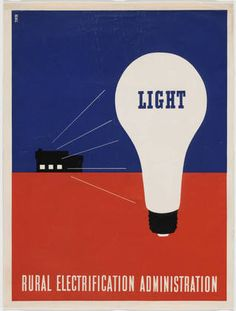 Lester Beall. Rural Electrification Administration, 1937.