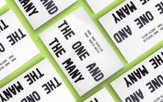 "Project Report: ""The one and the Many"" by Jonas Möllenbeck, via Behance"