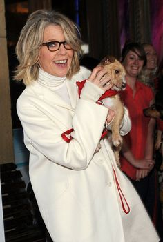 "Diane Keaton Actress Diane Keaton arrives at the Premiere Of Sony Pictures Classics' ""Darling Companion"" at the Egyptian Theatre on April 17..."