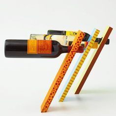 Put your own twist on this do-it-yourself wine stand. /