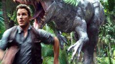 Owen chased by Indominus Rex. Jurassic World Indominus Rex, Jurassic World 2015, Jurassic Park Film, Chris Pratt, Prehistoric, Lion Sculpture, Memes, Fictional Characters, Scream