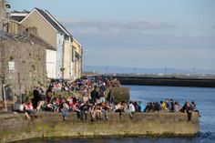 Great crowd down by the Spanish Arch for the Galway Food festival shot taken by Eoin Fealy.