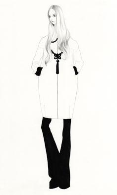 Fashion Illustration by Bijou Karman, via Behance