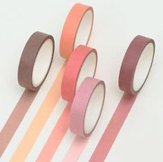 Set of 5 Washi Tape for your Crafting Needs Each Washi Tape is 10mm width x 5m length Perfect for journals, planners, calendars and schedule books.