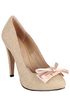 Paris Hilton Kylie Pump In Light Tan Linen Not a fan of Paris but these are cute!!!