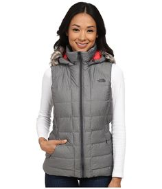 THE NORTH FACE THE NORTH FACE - GOTHAM VEST (GRAPHITE GREY HEATHER) WOMEN'S VEST. #thenorthface #cloth #